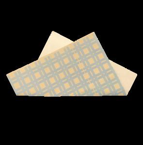 Τραπεζομάντηλο κραφτ με μπλε ρίγα